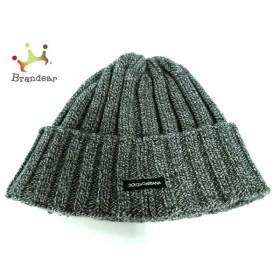 ドルチェアンドガッバーナ DOLCE&GABBANA ニット帽 美品 黒×ライトグレー ウール 新着 20190906