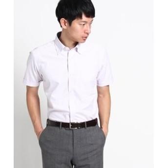 【THE SHOP TK:トップス】◆【抗菌防臭】半袖市松ドビードレスシャツ