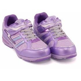 スーパースター バネのチカラ スニーカー 女の子 キッズ 子供靴 スタージュエリーコレクション 軽量 EE SUPERSTAR J802 パープル