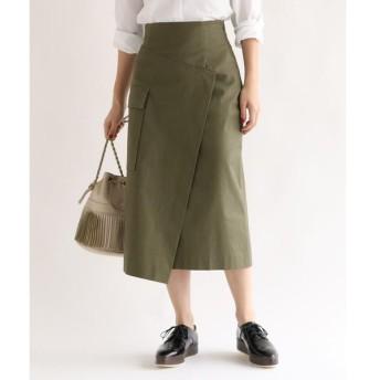 aquagirl / アクアガール スラブアシンメトリーラップスカート