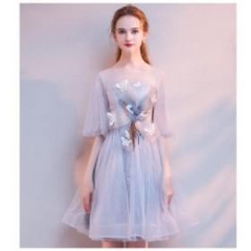 ドレス 結婚式ワンピース フォーマルドレス パーティードレス ウエディングドレス お呼ばれ服 大きいサイズ Aライン ミモレ丈ドレス 30代