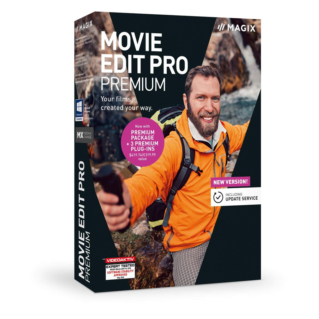 MAGIX 暢銷軟體 Movie Edit Pro 2019 Premium - Your Films Created