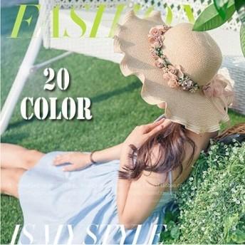 ★春夏新作★ 麦わら帽子 レディース かわいい 帽子 UVカット 麦わらハット 紫外線対策