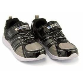 スニーカー 男の子 キッズ 子供靴 スピードウィング SPEED WING 11020 ブラック(白底)