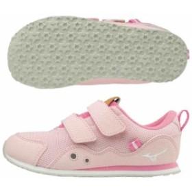 ミズノ キッズ 子供靴 スニーカー ランキッズ 6 ピンク×ホワイト  MIZUNO K1GD193360