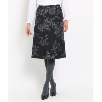 SunaUna / スーナウーナ 【洗える】ボタニカルチェック柄スカート