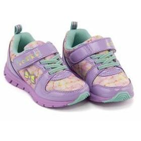 スニーカー 女の子 キッズ 子供靴 ゴム紐 ストラップ 反射材 チャーキーズ CHARKIES 6483 パープル