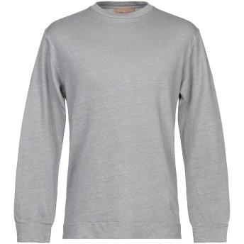 《セール開催中》DANIELE FIESOLI メンズ スウェットシャツ 鉛色 M 麻 80% / コットン 20%