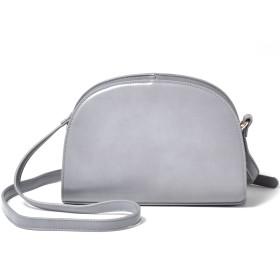 [シュベック] SVEC レディース ハーフムーン ショルダーバッグ 斜めがけ 鞄 カジュアルバッグ 婦人鞄 灰色 グレー