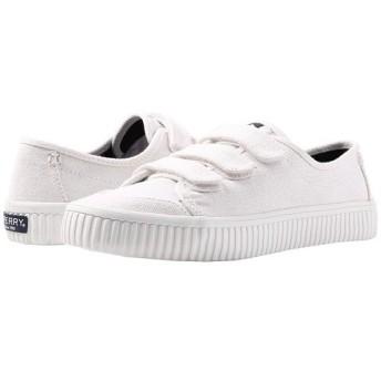 (スペリートップサイダー) SPERRY TOPSIDER レディースウォーキングシューズ・カジュアルスニーカー・靴 Crest Creeper White 9.5 26.5cm M (B) [並行輸入品]