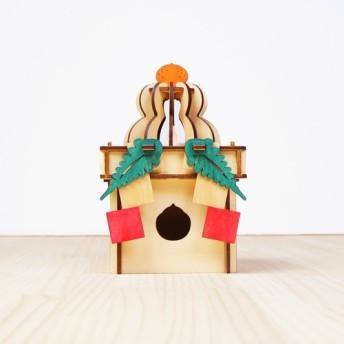「鏡餅と三方」木製ミニランプ 照明 インテリア かわいい