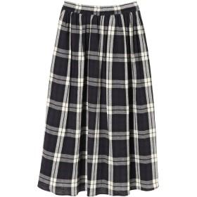 【5,000円以上お買物で送料無料】ガーゼチェックギャザーロングスカート
