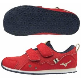 【キャッシュレスでP5%還元】 ミズノ キッズ 子供靴 スニーカー ランキッズ 6 レッド×ホワイト  MIZUNO K1GD193362