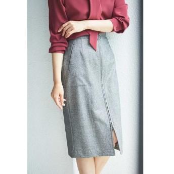 BOSCH / ボッシュ [WEB限定商品]ヘリンボーンフロントジップスカート