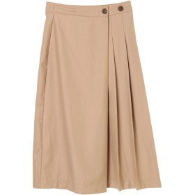 【5,000円以上お買物で送料無料】フロントタックラップスカート