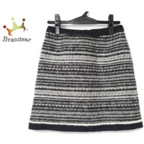 トゥモローランド TOMORROWLAND スカート サイズ36 S レディース 美品 ダークグレー×白 ニット 新着 20190906