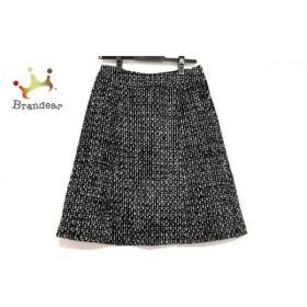 ハロッズ HARRODS スカート サイズ2 M レディース 美品 黒×白×グレー  値下げ 20191207