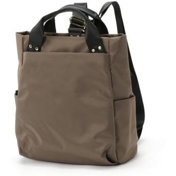 バッグ カバン 鞄 レディース リュック 通勤にも♪ナイロン2WAYリュックサック カラー 「グレー」