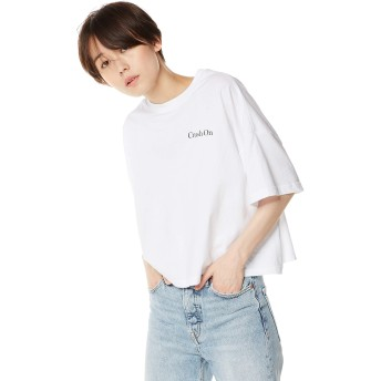 [ウィゴー] WEGO ワイド ルーズ ロゴ プリント T シャツ FREE フリーサイズ ホワイト ソノタ レディース