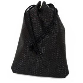 印傳屋 印伝 合切袋 [3007 黒×黒 瓢箪]
