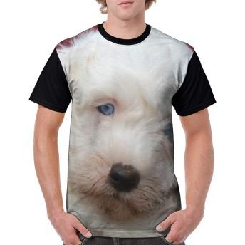 Z-one シェパードル 子犬 メンズ Tシャツ 半袖 プリント トップス 創意デザイン スポーツウェア 人気 春 夏
