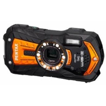 PENTAX 防水デジタルカメラ Optio WG-2GPS (シャイニーオレンジ) OPTIOWG-2(中古品)