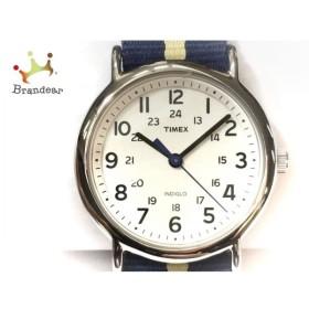タイメックス TIMEX 腕時計 美品 INDIGLO CR2016CELL ボーイズ 白 新着 20190906