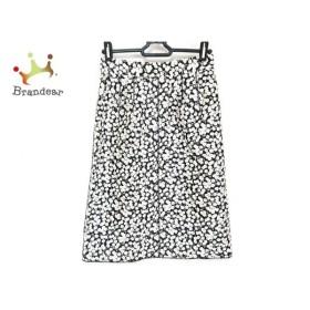 ドルチェアンドガッバーナ スカート サイズ38 S レディース 美品 黒×アイボリー 花柄 新着 20190906