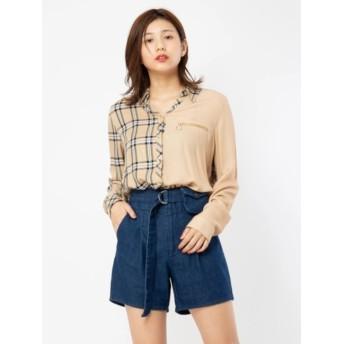 【セシルマクビー/CECIL McBEE】 BACKプリントチェックシャツ