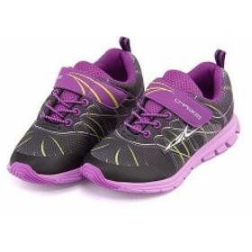 スニーカー 女の子 キッズ 子供靴 ゴム紐 ストラップ チャーキーズ CHARKIES 6481 ブラック/コンビ