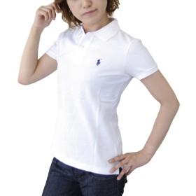 (ポロ ラルフローレン)POLO Ralph Lauren ポロシャツ ポニー ワンポイント レディース ホワイト×ネイビー S [並行輸入品]
