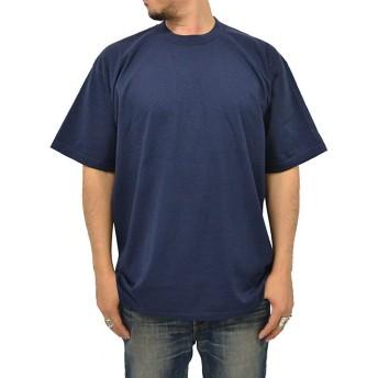 PRO CLUB(プロクラブ) 大きいサイズ メンズ Tシャツ 無地 ネイビー LL