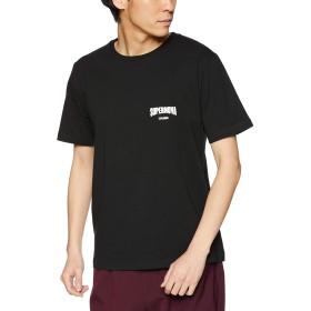 [ウィゴー] WEGO バック プリント ロゴ T シャツ 半袖 M ブラック メンズ