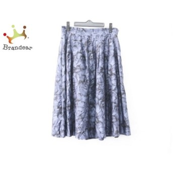 インゲボルグ INGEBORG スカート サイズ11号 レディース 美品 ネイビー×黒 花柄 新着 20190906
