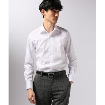 エディフィス セミワイド ドビーストライプシャツ メンズ ホワイト 40 【EDIFICE】