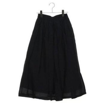 ルノンキュール アウトレット Lugnoncure outlet ヴィンテージサテンマキシスカート (ネイビー)