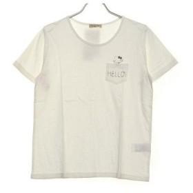 サマンサ モスモス アウトレット Samansa Mos2 outlet HELLO KITTYコラボTシャツ (オフホワイト)