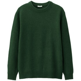(GU)ラムブレンドクルーネックセーター(長袖) DARK GREEN S