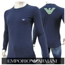 完売御礼/エンポリオアルマーニ EMPORIO ARMANI UNDER WEAR メンズ 長袖Tシャツ 111023 6A725 ネイビー/00135/クルーネック/カットソー/1617aw/セール