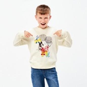 KIDS ミッキー アート スウェットシャツ ケイト・ギブ(長袖)