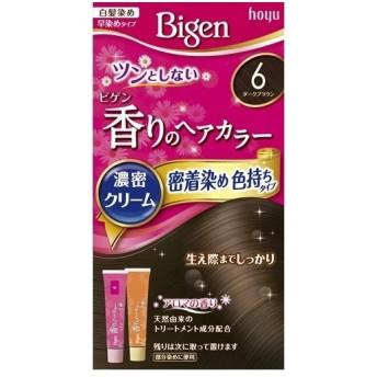 ビゲン 香りのへアカラー濃密クリーム 密着染め色持ちタイプ 6(ダークブラウン)