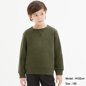 (GU)KIDS(男女兼用)裏起毛スウェットプルオーバー(長袖) OLIVE 110