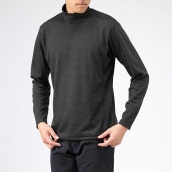 MIZUNO SHOP [ミズノ公式オンラインショップ] ブレスサーモミニボーダーハイネックシャツ[メンズ] 08 チャコールグレー B2MA9540
