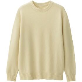 (GU)ラムブレンドクルーネックセーター(長袖) OFF WHITE XXL