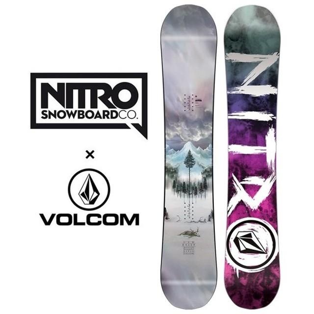 ナイトロ スノーボード ボード ボルコム THE NITRO X VOLCOM コラボ 151cm 155cm スノボ 板 VOLCOM [1101]