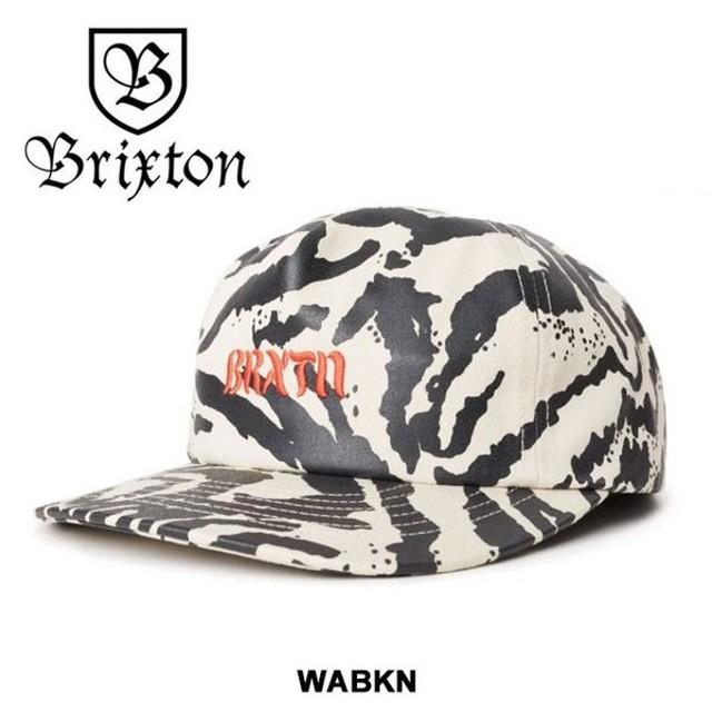 【5%還元】ブリクストン キャップ メンズ 帽子 MARCH LP CAP WASHED-BLACK-BONE BRIXTON 白 黒 [0601]