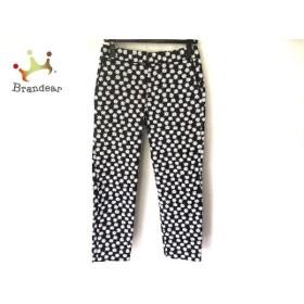 トゥモローランド TOMORROWLAND パンツ サイズ36 S レディース 黒×白 花柄 新着 20190907