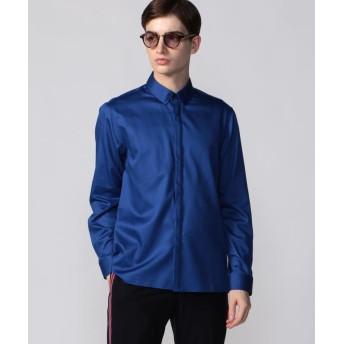トゥモローランド パウダーサテン ボタンダウンシャツ メンズ 65ブルー 0 【TOMORROWLAND】