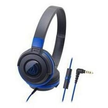 Tポイント15倍(まとめ) Audio-Technica オーディオテクニカ スマートフォン用ポータブルヘッドホン ATH-S100iS BBL 〔×2セット〕請求書・領収書
