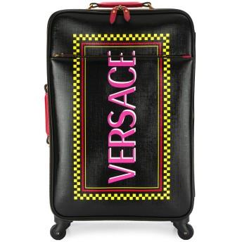 Versace ロゴ スーツケース - ブラック